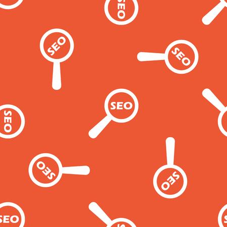 nuance: Text SEO under loupe, repeated on orange background Illustration