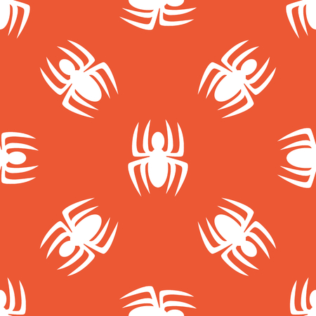 repeated: Image of spider, repeated on orange background