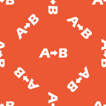 derivation: Letters A, B and arrow, repeated on orange background