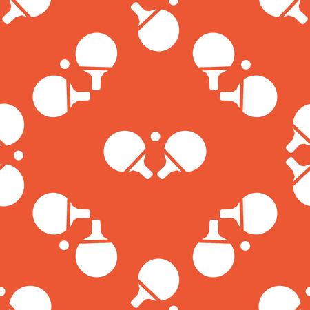 tischtennis: Bild von Tischtennisschläger, auf orange Hintergrund wiederholt Illustration