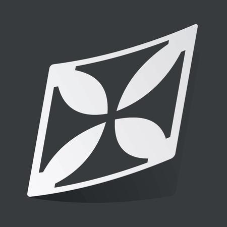 maltese: White sticker with black image of maltese cross, on black background Illustration