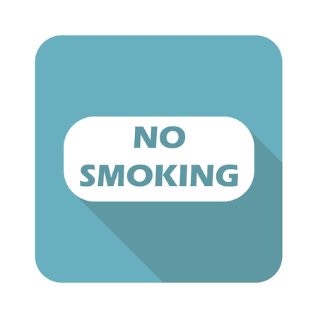 no image: Image of NO SMOKING sign in blue square, isolated on white Illustration