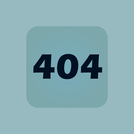 chamfered: Text 404 in square, on pale blue background
