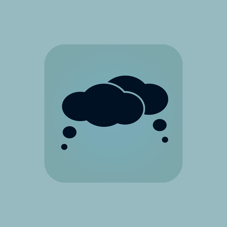 estimation: Image of two thought bubble in square, on pale blue background