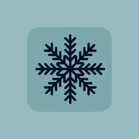 chamfered: Image of snowflake in square, on pale blue background Illustration