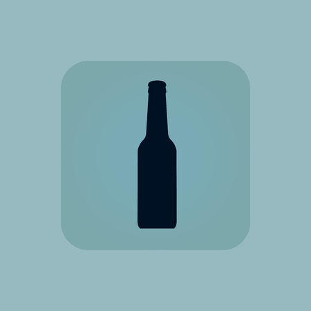 chamfered: Image of beer bottle in square, on pale blue background