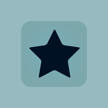Image of star in square, on pale blue background