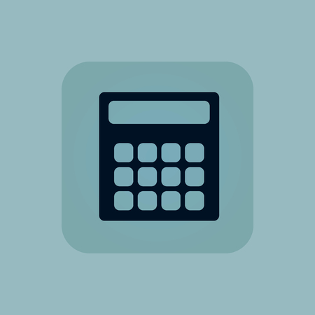 chamfered: Image of calculator in square, on pale blue background