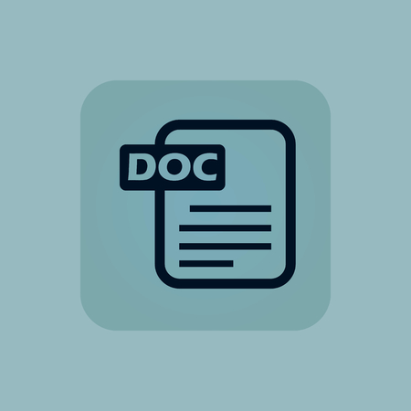 chamfered: Image of document page with text DOC in square, on pale blue background