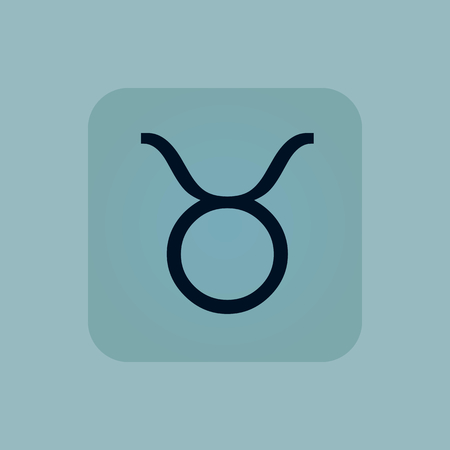 chamfered: Image of Taurus zodiac symbol in square, on pale blue background
