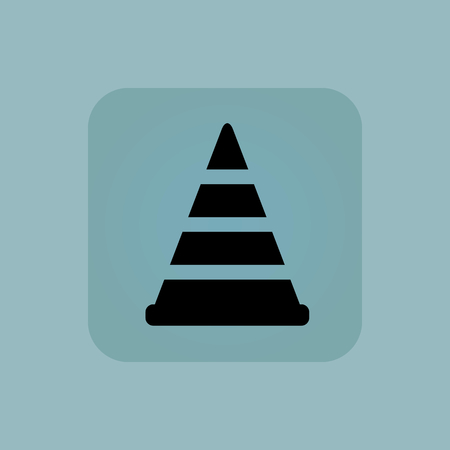 diversion: Image of traffic cone in square, on pale blue background Illustration