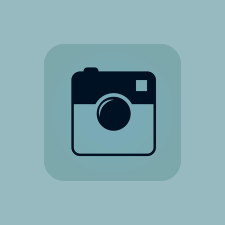 microblog: Image of square camera in square, on pale blue background Illustration