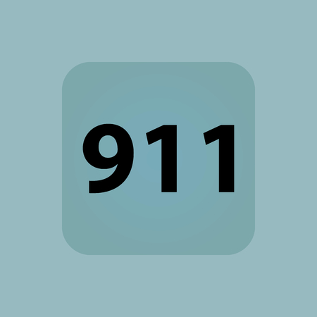 circumstance: Text 911 in square, on pale blue background