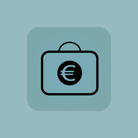 chamfered: Image of bag with euro symbol in square, on pale blue background