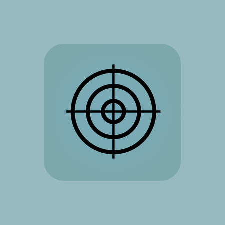 Image of aiming mark in square, on pale blue background