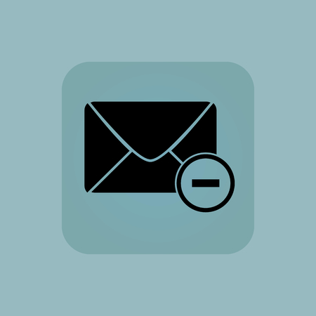 chamfered: Image of envelope with minus in square, on pale blue background Illustration