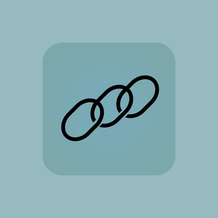 fragment: Image of chain fragment in square, on pale blue background