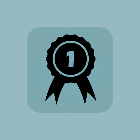 chamfered: Image of first place award in square, on pale blue background