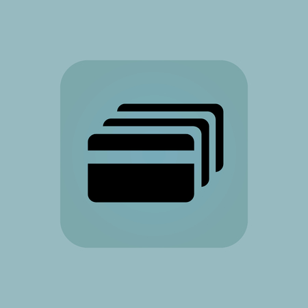 chamfered: Image of credit card in square, on pale blue background