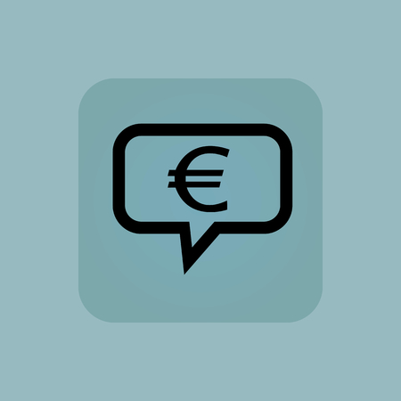 business funds: in chat bubble, in square, on pale blue background