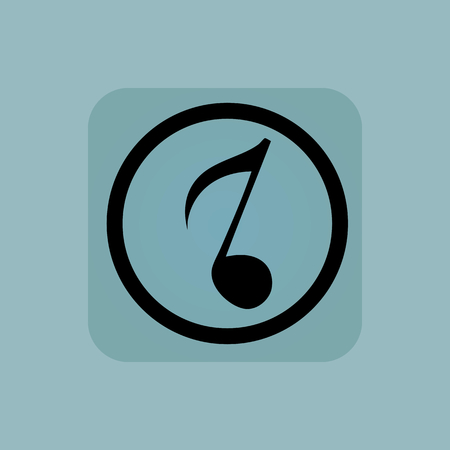 gamut: Eighth note in circle, in square, on pale blue background