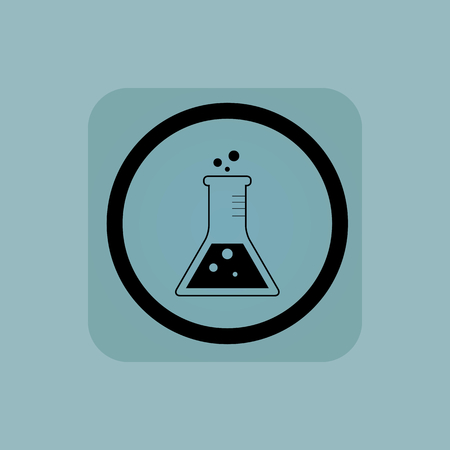 reagents: Conical flask in circle, in square, on pale blue background