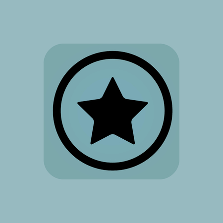 ideogram: Star in circle, in square, on pale blue background Illustration
