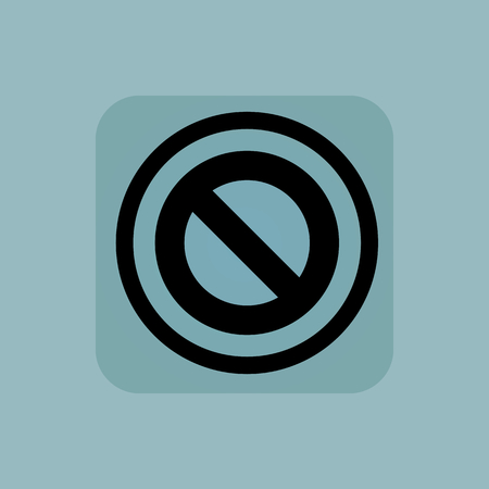 veto: NO sign in circle, in square, on pale blue background Illustration