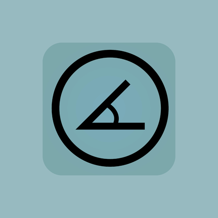 angle: Angle in circle, in square, on pale blue background