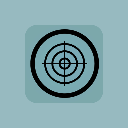 Aiming mark in circle, in square, on pale blue background