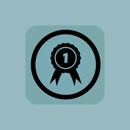 corroboration: 1st place award in circle, in square, on pale blue background Illustration