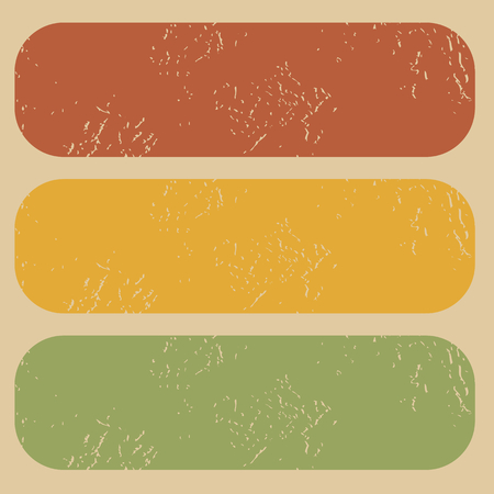 archive site: Set of three colored rubber stamp templates without words