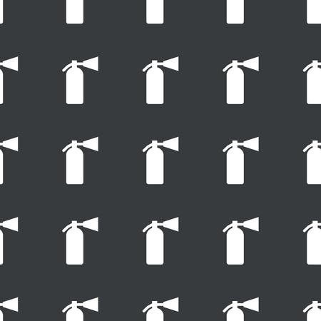burn out: Wit beeld van brandblusser herhaald op zwarte achtergrond