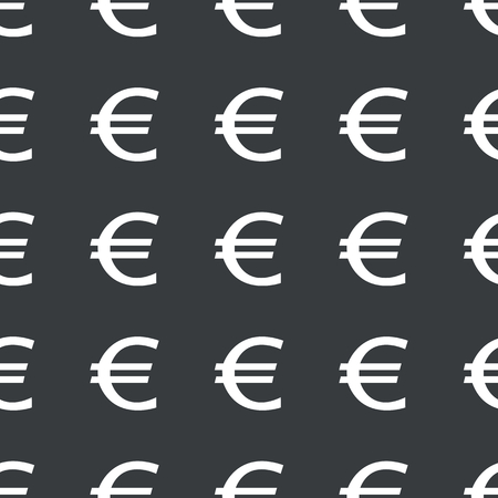 repeated: White euro symbol repeated on black background