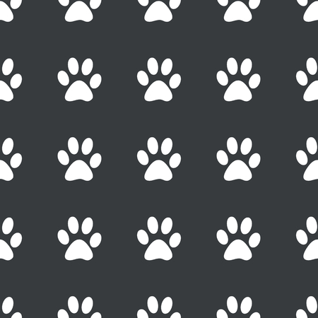 track pad: White image of paw print repeated on black background