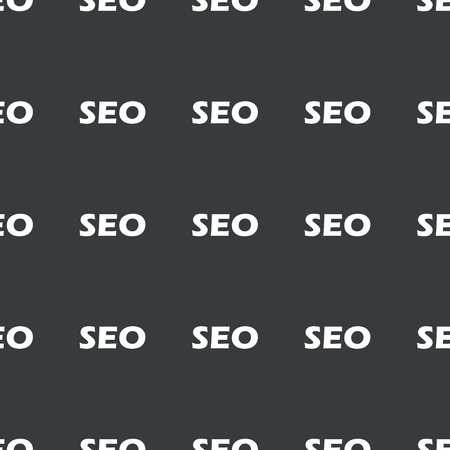 repeated: White text SEO repeated on black background Illustration