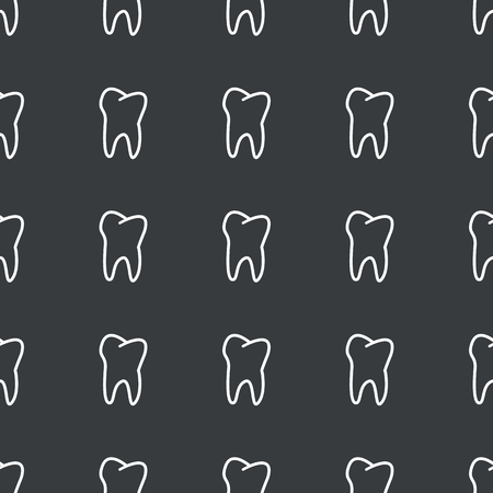 repeated: White image of tooth repeated on black background