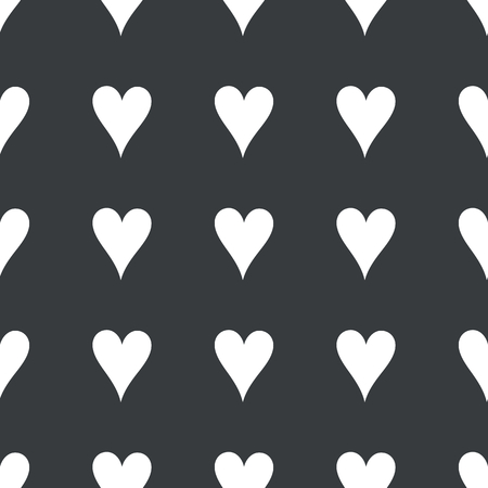 repeated: White image of hearts card symbol repeated on black background Illustration