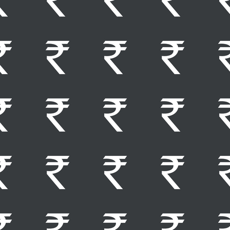 White Image Of Indian Rupee Symbol Repeated On Black Background