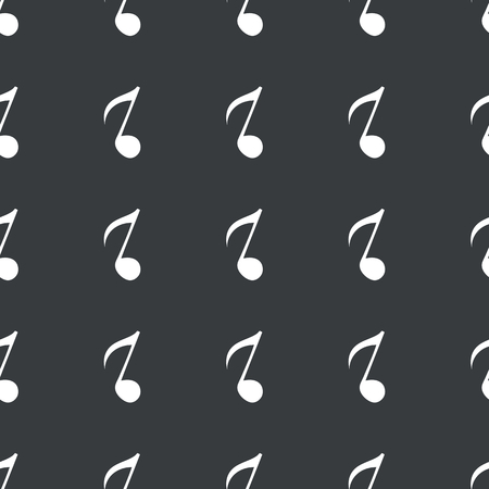 eighth note: White image of eighth note repeated on black background