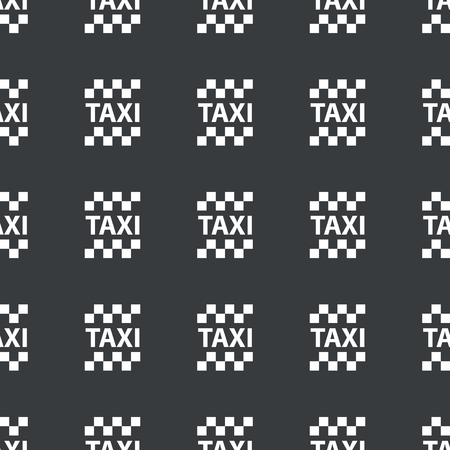 repeated: White image of taxi logo repeated on black background Illustration