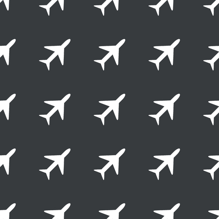 repeated: White image of plane repeated on black background Illustration