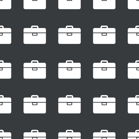 repeated: White image of briefcase repeated on black  Illustration