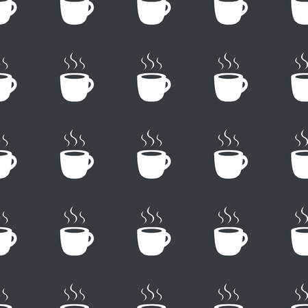 repeated: White image of cup with hot drink repeated on black