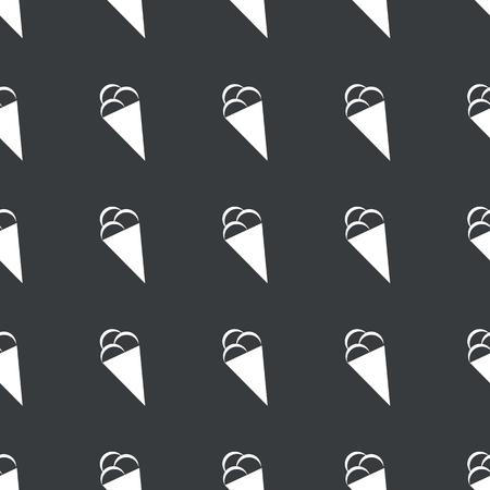 black and white cone: White image of ice cream cone repeated on black