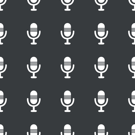 repeated: White image of microphone repeated on black  Illustration