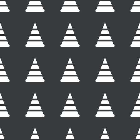 White image of traffic cone repeated on black