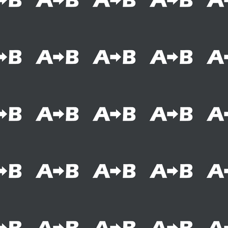 white letters: White letters A, B and arrow repeated on black