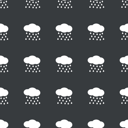 sleet: White image of cloud and water drops repeated on black