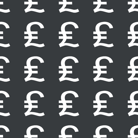 White pound sterling symbol repeated on black